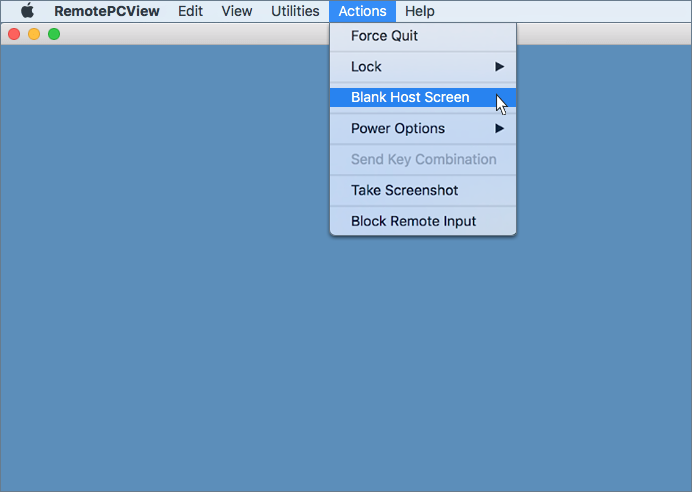 Blank Host Screen - RemotePC for Mac