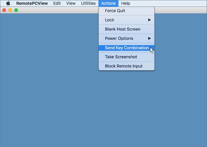 Send Key Combination - RemotePC for Mac