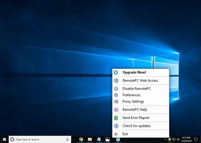 RemotePC Tray - RemotePC for Windows